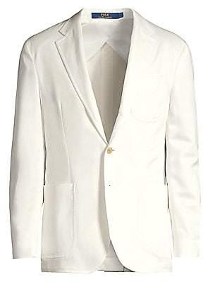 Polo Ralph Lauren Men's Single-Breasted Washed Tencel Jacket