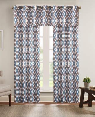 """Madison Park Ashlin Diamond 50"""" x 95"""" Grommet Window Curtain"""
