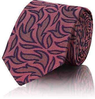 Barneys New York Men's Flame-Print Silk Faille Necktie