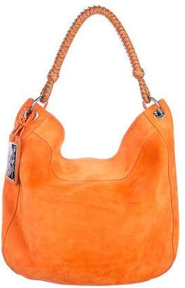 Pre-Owned at TheRealReal � Ralph Lauren Leather-Trimmed Suede Hobo