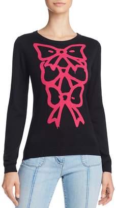 Moschino Bow-Graphic Silk & Cashmere Sweater