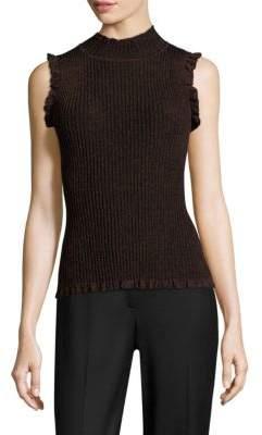 Milly Italian Stardust Sleeveless Sweater