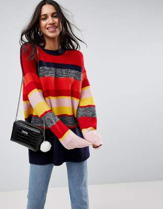 Asos DESIGN Oversized Sweater in Stripe