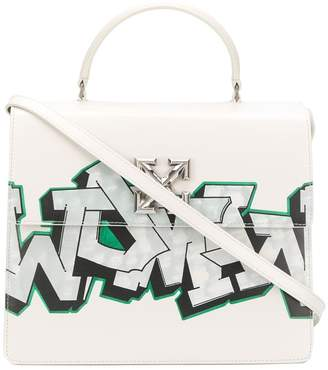 Off-White Jitney graffiti tote bag