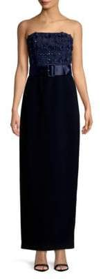 Karl Lagerfeld Social Embroidered Evening Gown