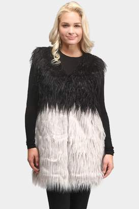 Embellish Faux Fur Vest