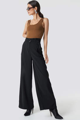 Na Kd Trend Paperbag Waist Wide Pants Black