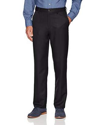 Amazon Essentials Men's Expandable Waist Classic-Fit Flat-Front Dress Pants