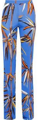 Emilio Pucci Printed Crepe De Chine Flared Pants