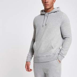 River Island Light grey long sleeve jersey hoodie