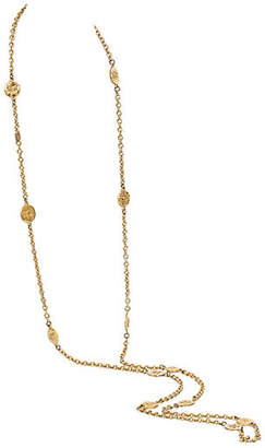 One Kings Lane Vintage Chanel Extra Long Logo Necklace Gold - Vintage Lux