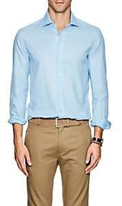 Barneys New York Men's Cotton Piqué Shirt - Turquoise