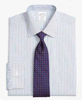 Brooks Brothers Regent Fitted Dress Shirt, Non-Iron Split Stripe