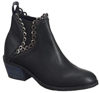 Antelope Leather Grommet Trim Bootie