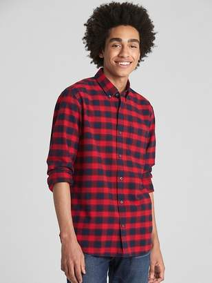 Gap Pattern Oxford Shirt in Stretch