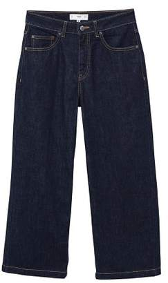 MANGO Relaxed cropped jeans