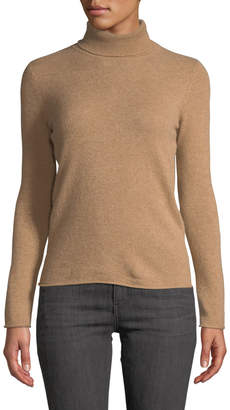 Neiman Marcus Cashmere Basic Turtleneck Sweater