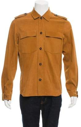 Louis Vuitton Suede Military Shirt Jacket