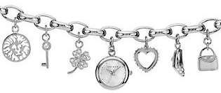 Anne KleinAnne Klein Women's Silvertone Charm Watch