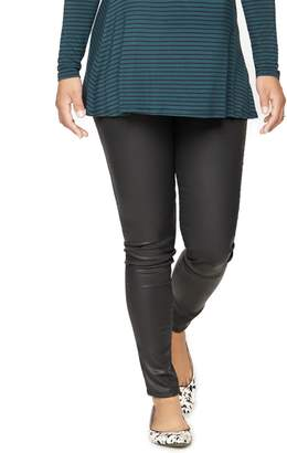 DL1961 Pea Collection Secret Fit Belly Skinny Coated Maternity Jean