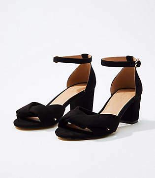 LOFT Criss Cross Ankle Strap Sandals