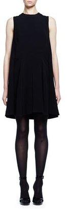 Alexander McQueen Sleeveless Cape-Back Mini Dress, Black $1,965 thestylecure.com