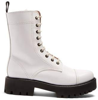 Alexachung - Lace Up Leather Boots - Womens - White