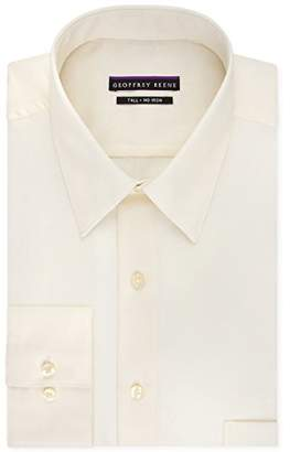 Geoffrey Beene Men's Sateen Tall Fit Solid Point Collar Dress Shirt