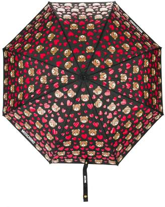 Moschino bear and heart print umbrella