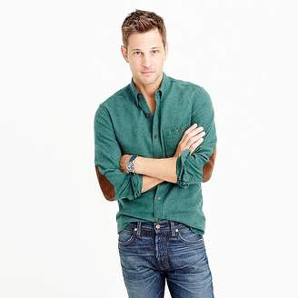 Cotton-wool elbow-patch shirt in solid $98 thestylecure.com