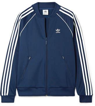 adidas Superstar Striped Satin-jersey Track Jacket - Navy