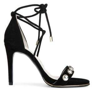 Kenneth Cole New York Berry Suede Ankle-Wrap Sandals
