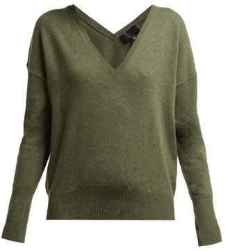 Nili Lotan Kylan V Neck Cashmere Sweater - Womens - Khaki
