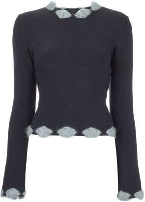Christian Dior Pre-Owned embellished trim jumper