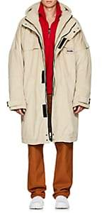 Martine Rose Napa by Men's Sherpa-Lined Cotton Oversized Parka - Neutral