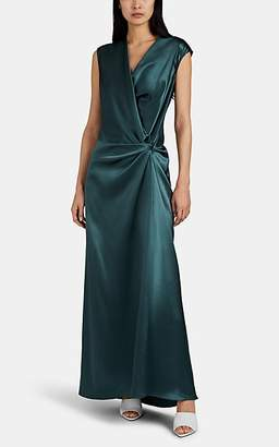 Narciso Rodriguez Women's Draped Silk Satin Gown - Green