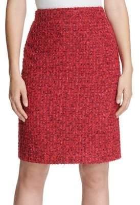 Donna Karan Tweed A-Line Skirt