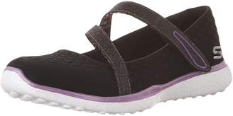 Skechers Kid's Microburst-One-Up Mary Jane Flats, Black/Purple
