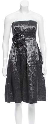 Calvin Klein Strapless Metallic Dress