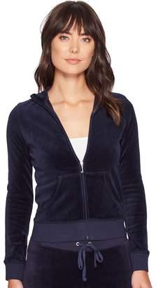Juicy Couture Fairfax Velour Jacket Women's Coat