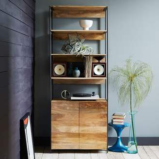 "west elm Industrial Modular 33"" Open + Closed Storage"
