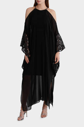 Maxi Kaftan With Sequin Sleeve Detail