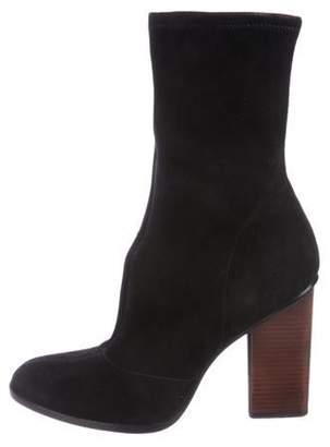 Alexander Wang Suede High-Heel Boots Black Suede High-Heel Boots