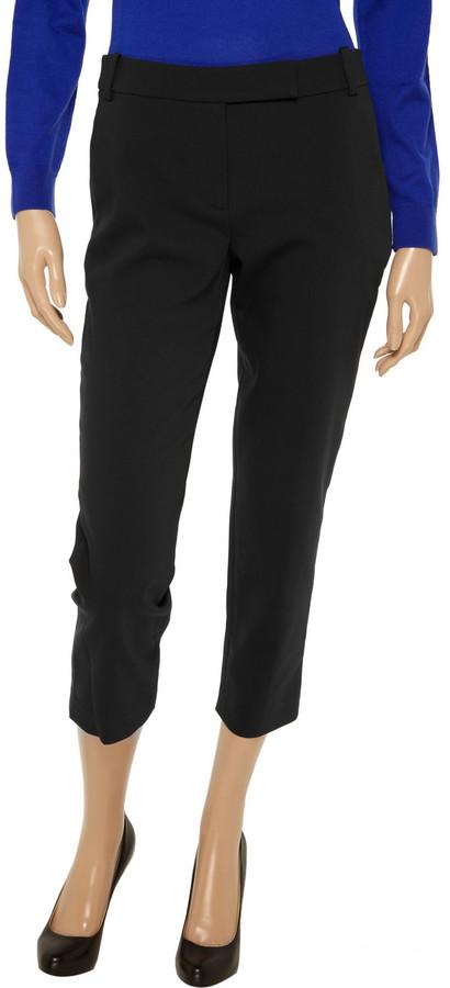 Tibi Lucas cropped stretch cotton-blend pants