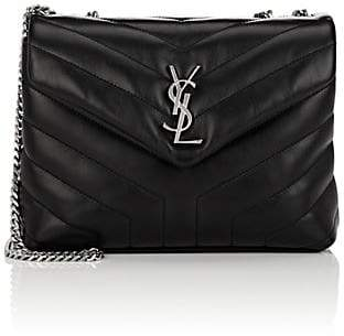 Saint Laurent Women's Monogram Loulou Small Leather Shoulder Bag