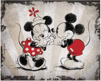 Artissimo Designs Disney's Mickey Mouse & Minnie Mouse Laughing Canvas Wall Art