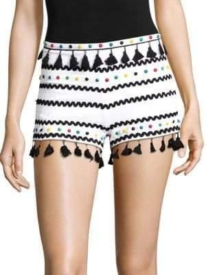 Moav Tassel Studded Shorts