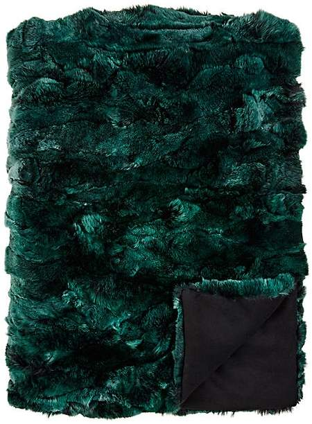 Rex Rabbit Fur Throw