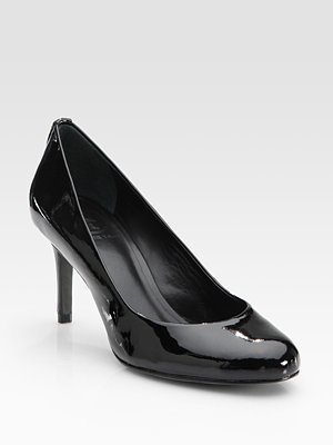 Leah Patent Leather Round Toe Pumps