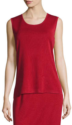 Misook Plus Size Scoop-Neck Sleeveless Knit Tank